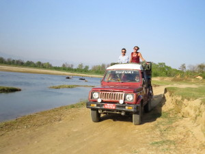 Jeep safari in Bardia