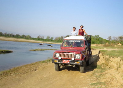 Jeep safari in Bardia